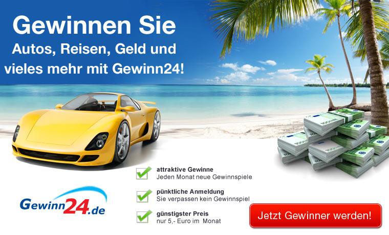 Gewinnen Sie Autos, Reisen, Geld und mehr
